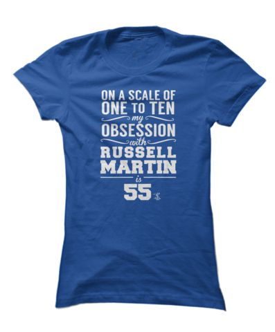 Russell Martin fans don't have normal obsessions, they have over-sized ones. Must have this.