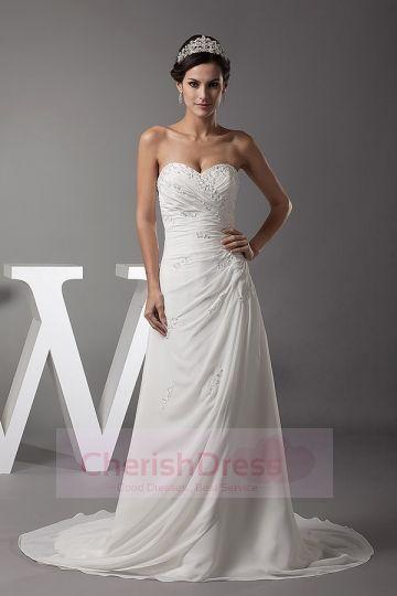 Sheath/Column  Wedding Dresses  princess style #cherishdress#