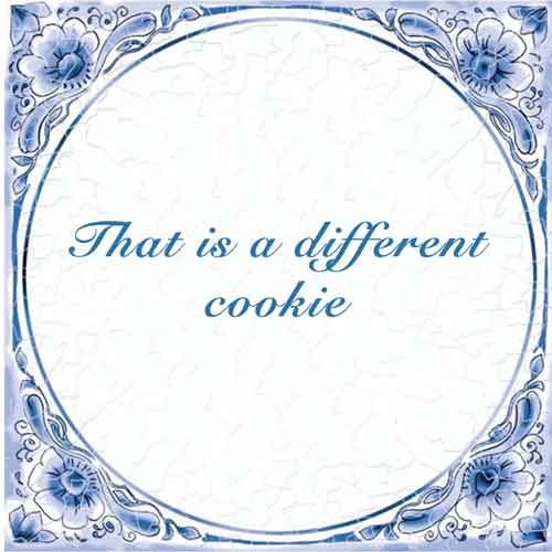 Dat is andere koek