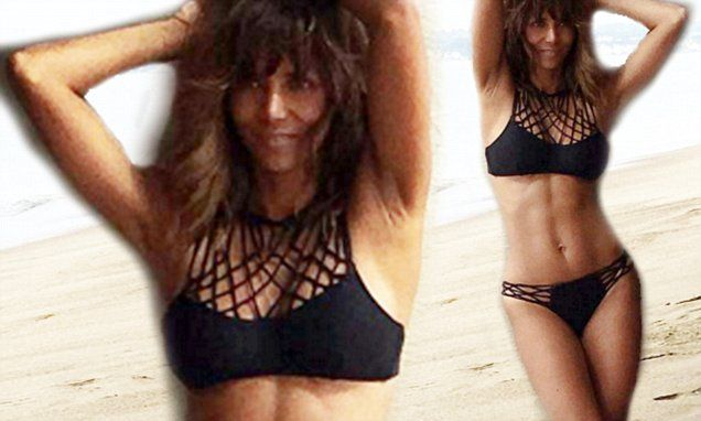 Halle Berry shows off knockout figure in bikini during beach photoshoot | Daily Mail Online