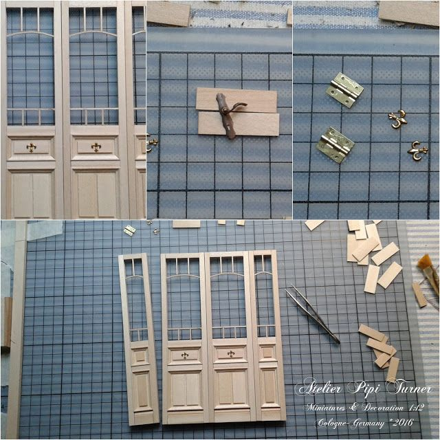 Pipi Turner Miniatures ♥: Working door & 389 best Dollhouse doors and windows images on Pinterest ... Pezcame.Com