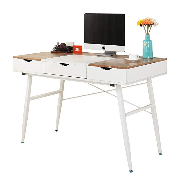 Soges 47 Modern Computer Desk Office Desk With Drawers Fully
