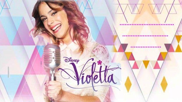 Biglietti invito di compleanno di Violetta da stampare
