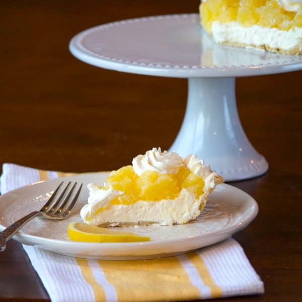 Lemon supreme pie (lemon cheesecake-esque filling, topped with lemony ...