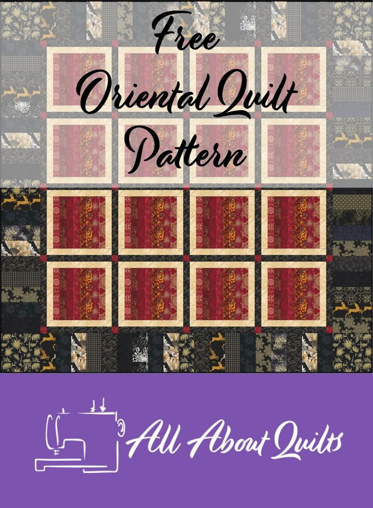 The perfect free pattern to showcase all those gorgeous Asian prints...