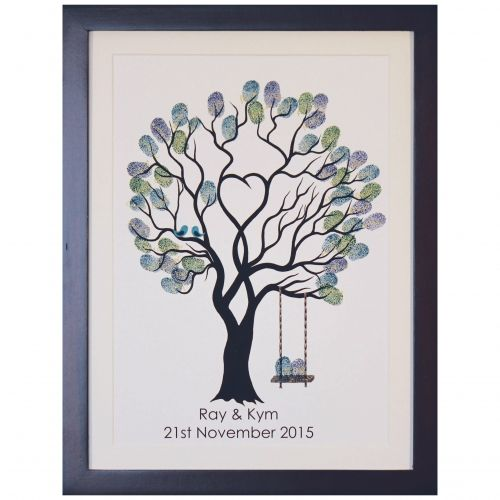 How beautiful are these?!! What an amazing guestbook for your wedding! Each guest adds their finger print to the tree. Fingerprint Trees - The Fingerprint Tree®
