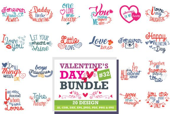 Download Free Valentine S Day Bundle Graphic By Thelucky Valentines For Boys Happy Love Day Valentines Design PSD Mockup Template