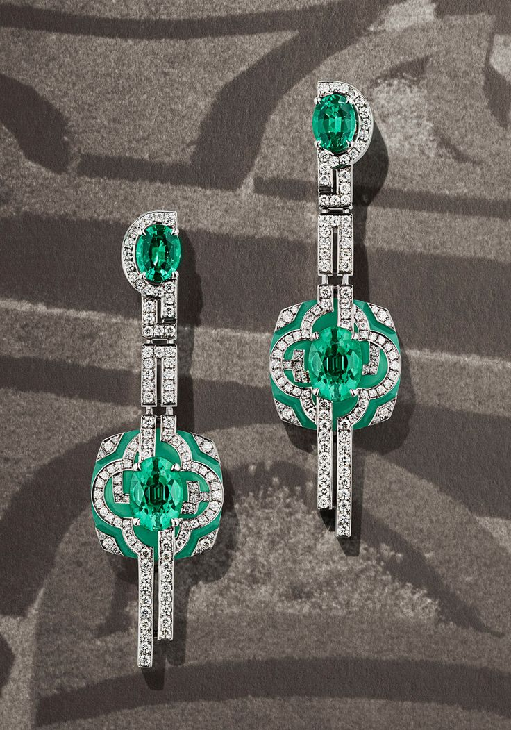 Jardin earrings by Louis Vuitton from the Escale á Paris high jewellery collection. Photograph by Coppi Barbieri for Louis Vuitton.