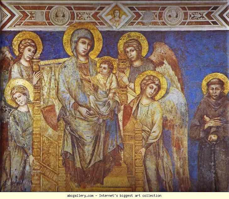 Cimabue (Firenze, 1240 circa – Pisa, 1302) - Madonna con Angeli e San Francesco
