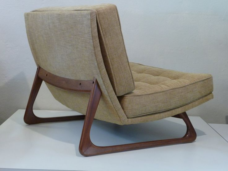 Pair Of Adrian Pearsall Chairs Wide Lounge Chair Tufted Lounge Chairs Mid  Century Modern Yellow Chair Mid Century Tan Chair