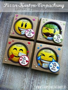 stampin up stampinwithfanny pizzabox verpackung karton smiley hello lindt emotis oktoberfest von mir gestempelt von mir für dich #stampinwithfanny