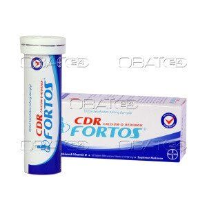 CDR FORTOS EFF  Komposisi : Kalsium karbonat 1500mg, vitamin D 400IU