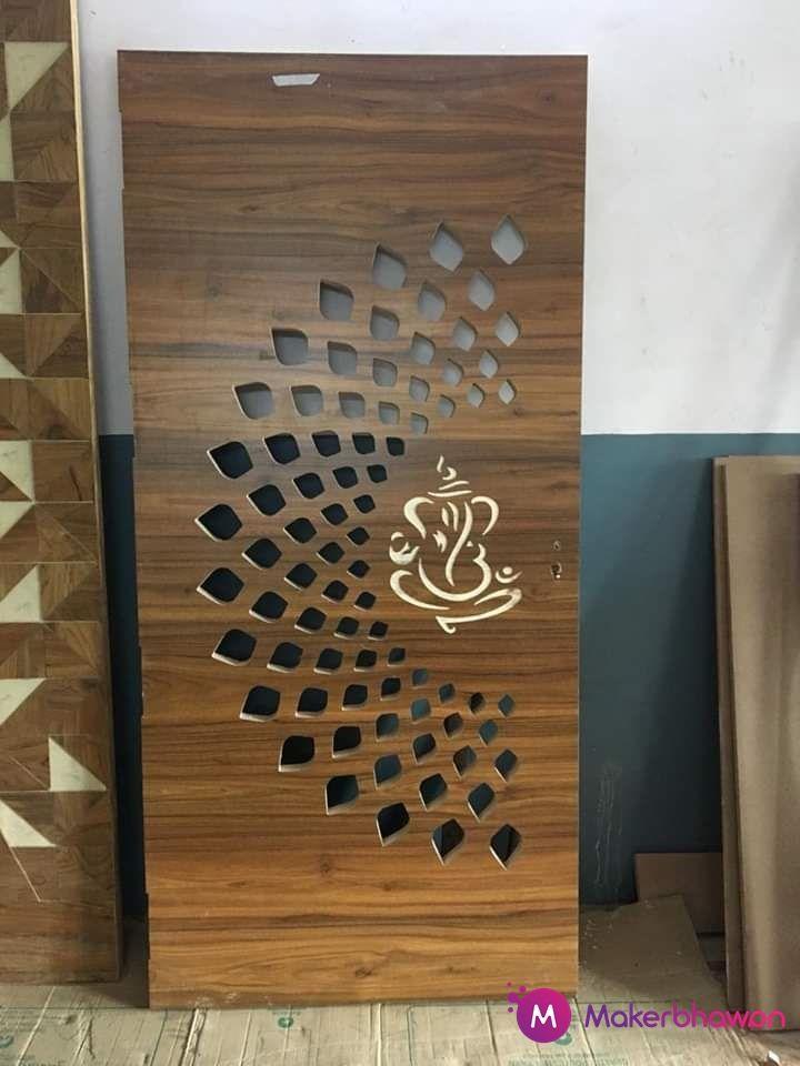 Leaves Safety Door structured DXF Design | Doors interior ...