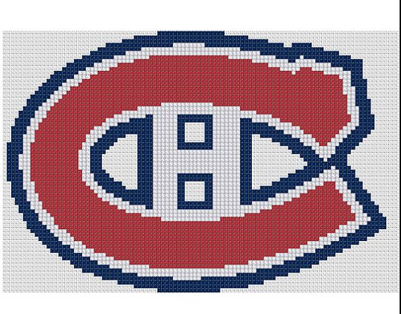 Counted Cross Stitch Pattern Montréal Canadiens Logo by dueamici