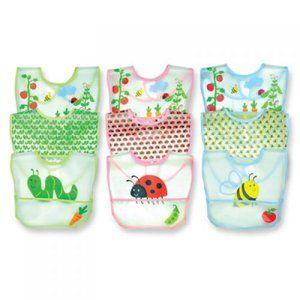 Green Sprouts 1171289 Waterproof Bibs, Garden Print - 3-Pack