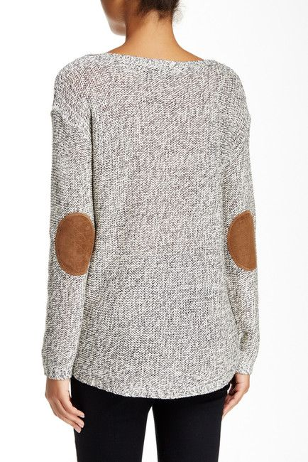 Faux suede elbow patch sweater i like clothes