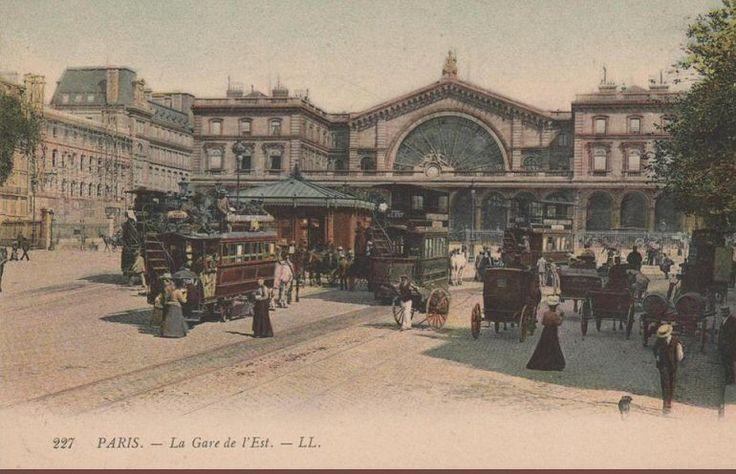 La gare de l'Est vers 1900 (carte colorisée)  (Paris 10ème)