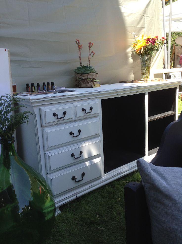 Reclaimed white dresser tlginteriors.com