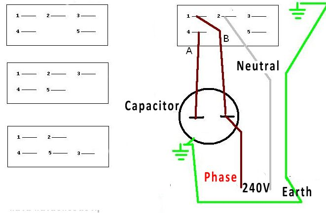 Please Help To Wire Up Motor By Kess Connector Can Be Vary According The Brand But The Same Numpers Represent The Same Wires Connectio In 2020 Capacitors Wire Motor