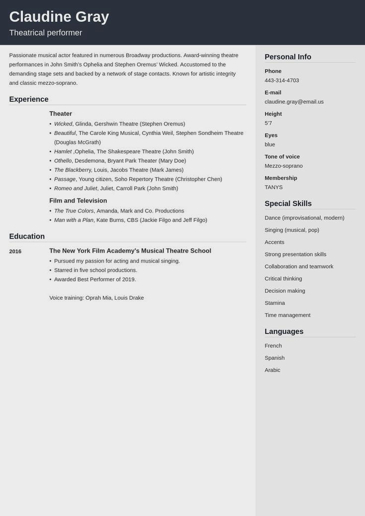 Professional Resume Example Instant Download 1 Page Resume Example For Ms Word Diy Resume Example In 2020 Resume Examples Job Resume Examples Resume Template