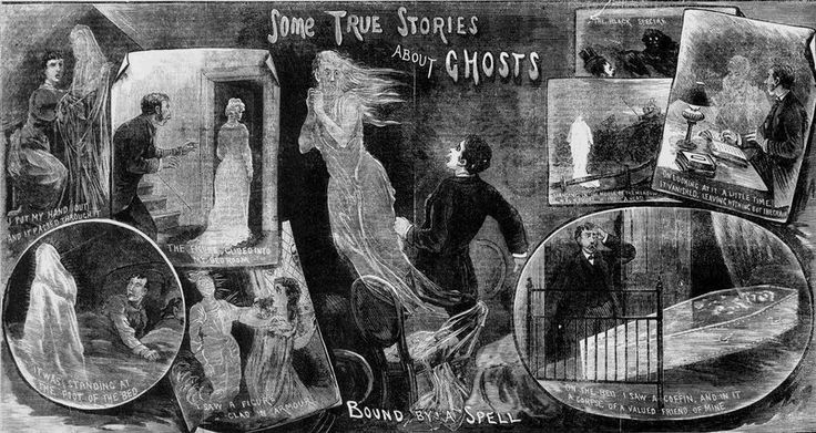 """""""Some true stories about ghosts"""" from the Illustrated Police News, October 29, 1881."""