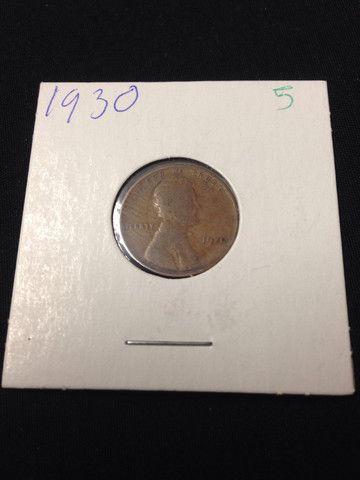 1930 wheat Penny bad condition original vintage antique
