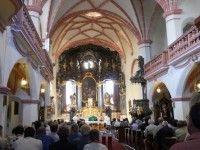 Kostel Sv.  Archanděla Michaela, trochu rozmazaný, ale ta krása je přece jen vidět