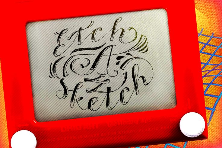 Etch A Sketch #handlettering #typography
