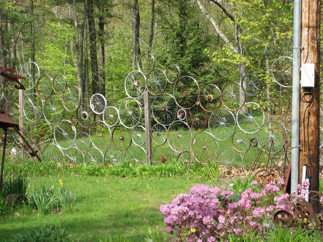 Bicycle Wheel Fence