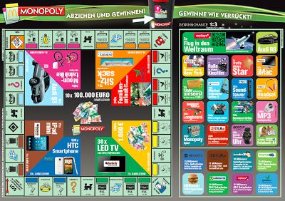 McDonald's Monopoly 2013. Game Board, Rare Pieces: McDonald's Monopoly Game Board