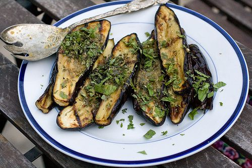 Serendipity -- Grilled Eggplant with Mint •The Domestic Front