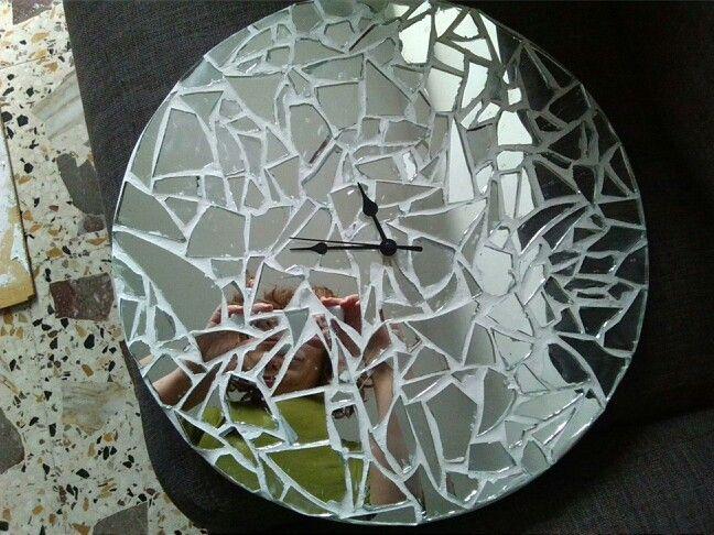 Orologio mosaico con specchi