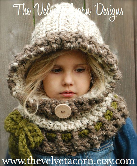 Crochet PATTERN-The Graslyn Hood (6/12 months, 12/18 months, Toddler, Child, Adult sizes)