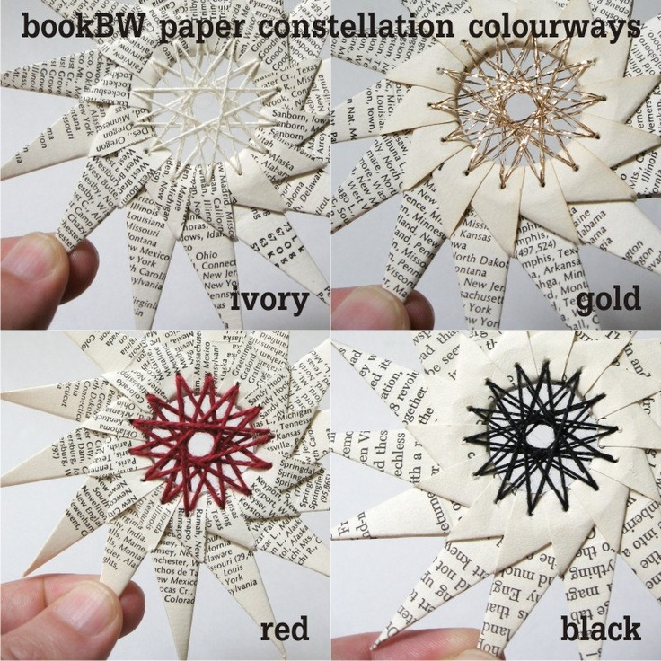 Paper star (I also categorize these beauties as paper embroidery)