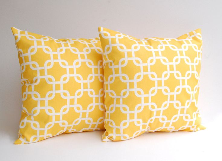 High Quality Yellow Throw Pillows Set Of Two 18 X 18 Inches Decorative Throw Pillow  Covers In Yellow Gotcha Yellow Pillow Cover Yellow Cushion Cover