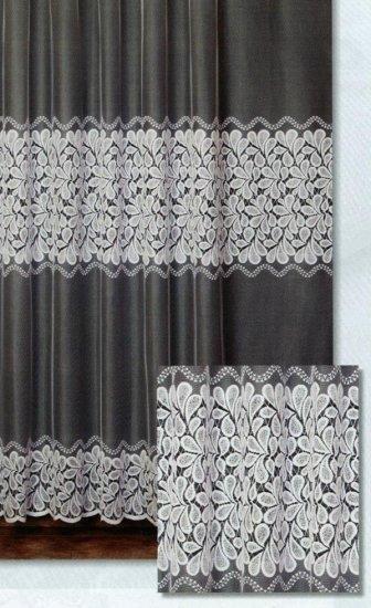 Függöny 125-798-05-0/74, fehér, 230 cm széles - Függöny méteráru 100 % PES - Függöny - Rea Tex Kézimunka Webáruház