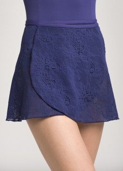 502KL Wrap Skirt Kara Lace Purple Front