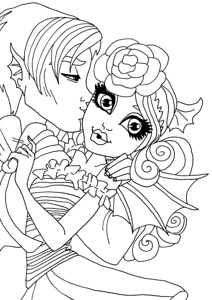 20 best Monster High Rochelle images on Pinterest Rochelle goyle - copy monster high gooliope jellington coloring pages