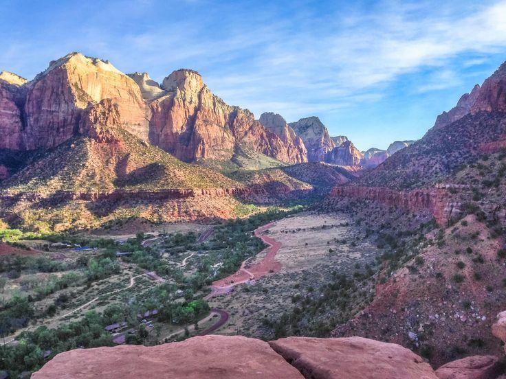 Capturing Zion's Grandeur Along the Watchman Trail, Zion National Park, Utah