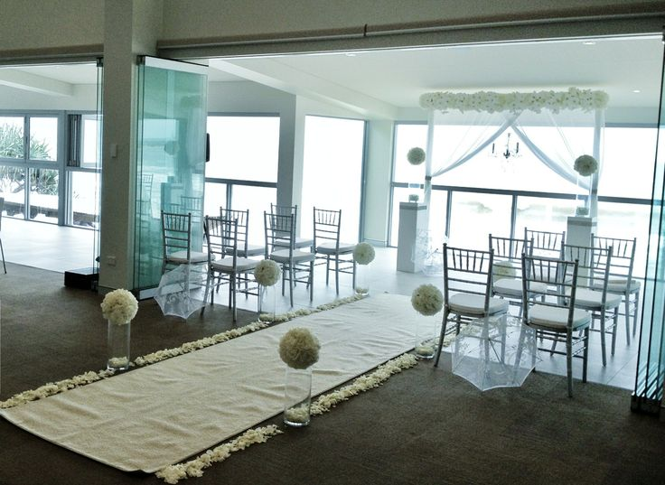 A beautiful wedding ceremony overlooking the beach. Styling by @Circle of Love Weddings