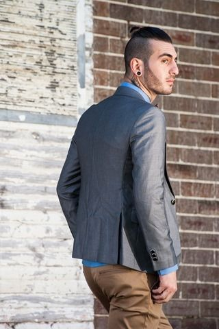 Men's Slim Fit Premium Blazer – Grey $119.95  #Blazers&Jackets #www.sieteclothingco.com.au