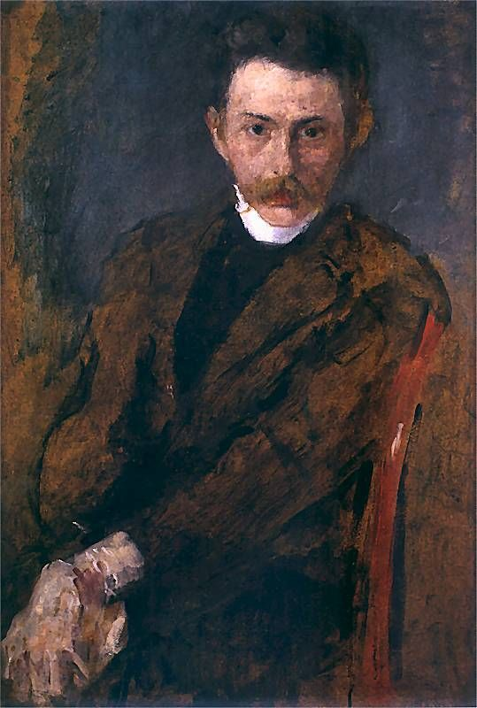 Portrait of a Man, 1910 by Olga Boznańska (Polish, 1865-1940)