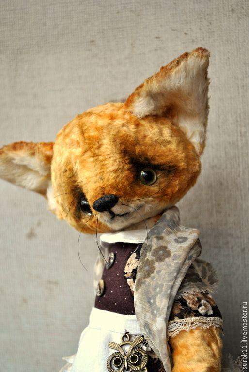 Купить Лизонька - рыжий, лиса, лисичка, лисичка игрушка, Лисонька, друзья тедди