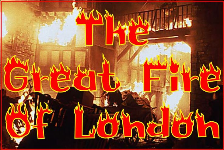 An A4 poster to use on a Great Fire of London display.