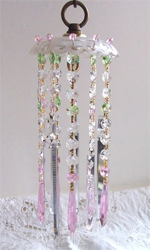Touch~of~Pink~and~Green Wind Chime