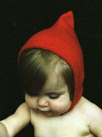 vintage pixie cap, pattern on Ravelry