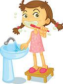 brushing teeth clipart - Google Search
