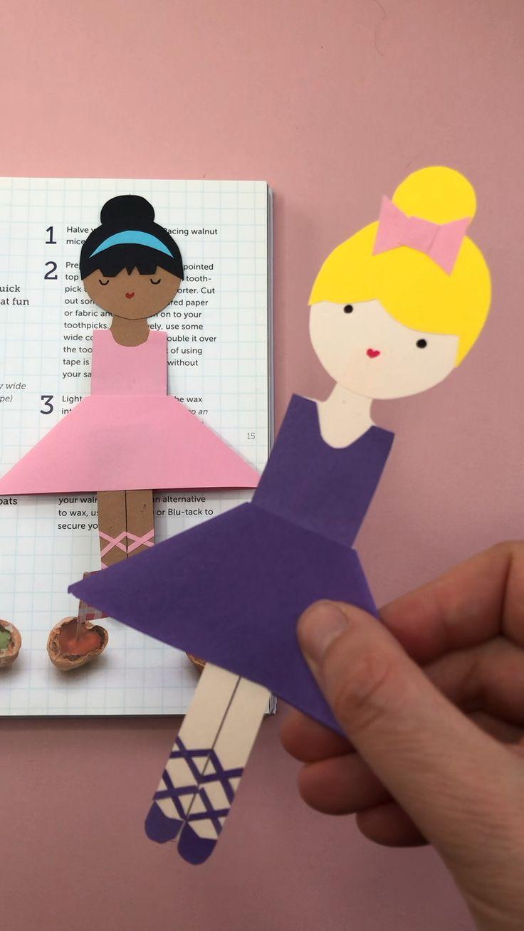 Easy Ballerina Corner Bookmark Design – Red Ted Art
