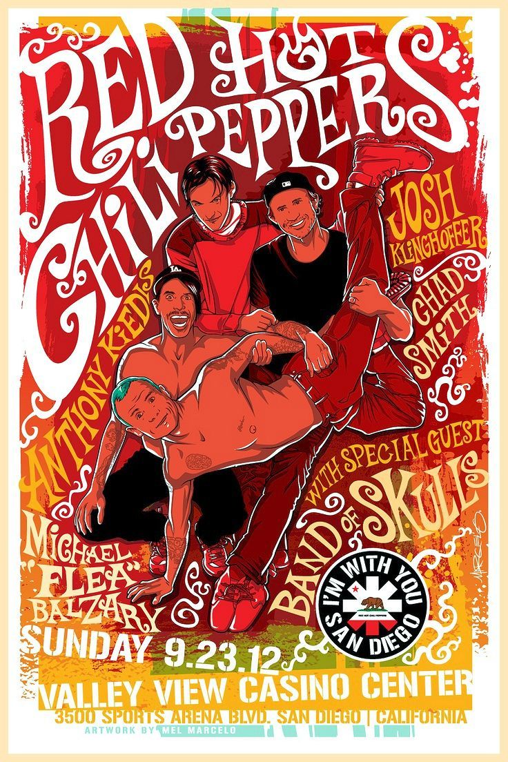 "RED HOT CHILI PEPPERS 2012 Concert Poster San Diego California $8.00 • 100% Mint unused condition • Well discounted price + we combine shipping • Click on image for awesome view • Poster is 12"" x 18"" • Semi-Gloss Finish • Great Music Collectible - superb copy of original • Usually ships within 72 hours or less with tracking. • Satisfaction guaranteed or your money back.Go to: Sportsworldwest.com"