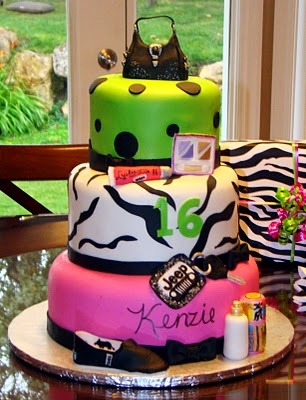 Sweet 16 Birthday Cake zebra Pinterest Cake ideas ...